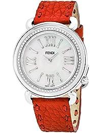 Fendi Selleria Femme Diamant 37mm Bracelet Cuir Quartz Montre  F8010345H0C0NB7 455c40259fd