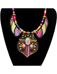 Mingfa Black Lace Flower Choker Pendant Bib Collar Statement Necklace Ribbon Clavicle Chain Charm Jewelry for Women Girls