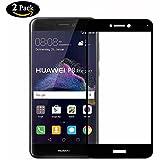 [2-Unidades] Huawei P8 Lite 2017 Protector de Pantalla,Y-ouni Cristal Templado Huawei P8 Lite 2017, [3D Cobertura Completa] [9H Dureza] [Alta Transparencia] [Ultra Resistente a Golpes y Rayado] [Sin burbujas] [Ajuste Perfecto] [Garantía de por vida] Protector Cristal Vidrio Templado para Huawei P8 Lite 2017,Negro