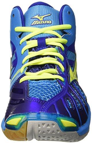 Mizuno Wave Tornado Mid, Chaussures de Volleyball Homme, Bleu Blu (Divablue/Safetyyellow/Surftheweb)