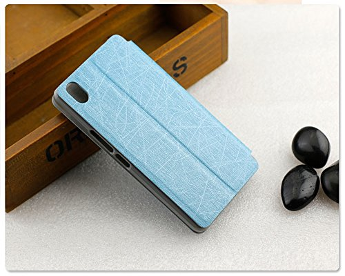 Heartly Premium Luxury PU Leather Flip Stand Back Case Cover For Oneplus X – Power Blue