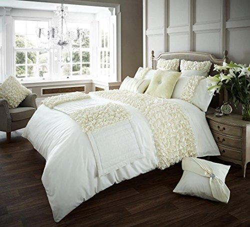 New Luxury Verina copripiumino con set di biancheria da letto copripiumino letto matrimoniale copripiumino |, Verina Cream, Super King