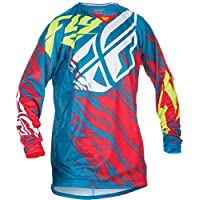 Fly Racing Kinetic Motocross/Mountain bike jersey Kids Relapse Teal-rosso, Bambini (unisex), Blau, YL