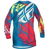 Fly Racing Kinetic Motocross/Mountain bike jersey Kids Relapse Teal-rosso, Bambini