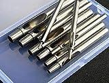 Pack de 101-10mm de sacabocados (Juego de herramientas Kit Puncher cortador de cinturón para de piel correa para reloj Craft Papper recortes en caja de almacenamiento