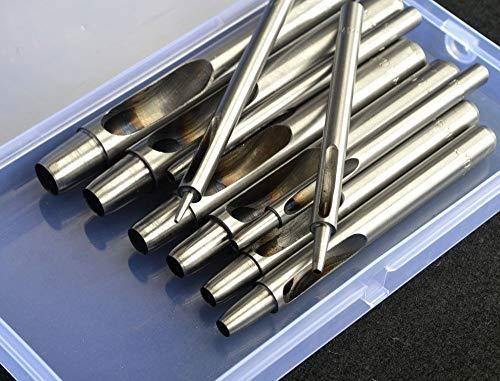 1-10 mm Locheisen-Werkzeug-Set, Lochstanzer für Gürtel Leder Uhrenarmband Bastelpapier Scrapbooking -