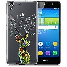 Huawei Y6 Funda, FoneExpert® Carcasa Cover Case Funda de gel TPU Transparente silicona Para Huawei Y6 (Color 1)