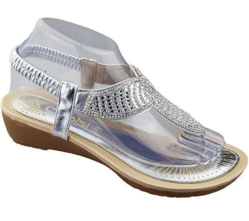 KOLLACHE , Sandales pour femme silver