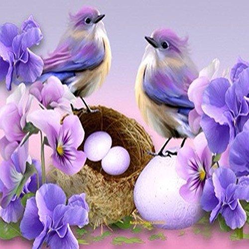 5d DIY Oiseaux Orchidée Diamant Broderie Peinture Floral Stitch Full Diamant rond Cristaux Tableau Home Decor mosaïque Needlework S