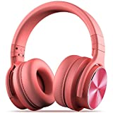 cowin E7 PRO [2018 aktualisiert] Active Noise Cancelling Kopfhörer Bluetooth Kopfhörer mit Mikrofon Hi-Fi Deep Bass Wireless Kopfhörer über Ohr 30H Spielzeit für Reisen Arbeit TV Computer Telefon(Rosa)