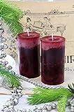 4 Stumpenkerzen Kerzen Bordeaux Weinrot 6cm Hochzeit Tischdeko Weihnachten Advent Kerze Deko - 5