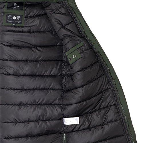 Marikoo MALAMUTE Herren edel Luxus Winterjacke Mantel Parka Winter Jacke warm gefüttert Gr. S-XXXL 3Farben Grün