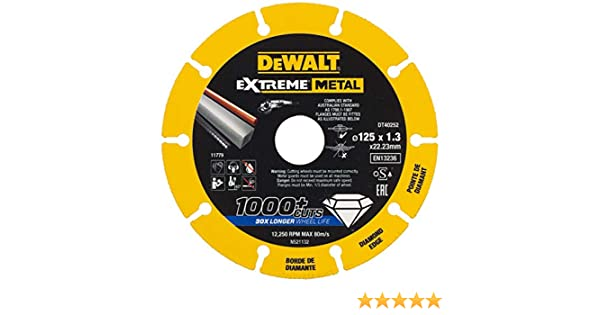DeWalt DT40257-QZ Disque Diamant Jaune//Noir