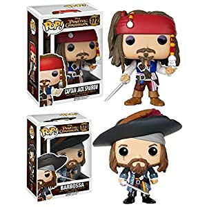 Funko POP Pirates Of The Caribbean Jack Sparrow Barbossa Vinyl Set NEW