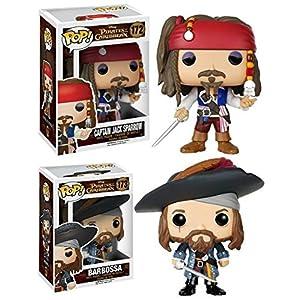 Funko POP Pirates Of The Caribbean Jack Sparrow Barbossa Vinyl Set NEW