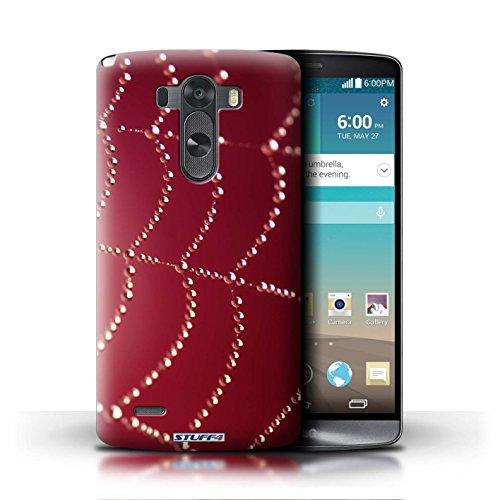 Kobalt® Imprimé Etui / Coque pour LG G3/D850/D855 / Rose conception / Série Toile d'araignée Perles Rouge