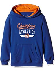 Champion - Sudadera con capucha para adolescentes, niño, Kapuzensweat Hooded Sweatshirt, Cobalt Blue/Celosia Orange, extra-small