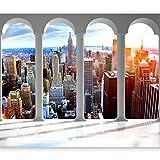 murando - Fotomurali New York 300x210 cm - Carta da parati sulla fliselina - Carta da parati in TNT - Quadri murali -Citta City Manhattan d-C-0075-a-a