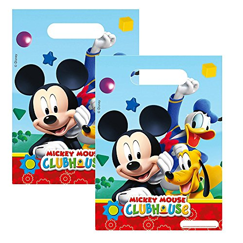 Geschenktüten Mickey Mouse | 6 Beutel | Micky Maus | Kinder Geburtstag Party
