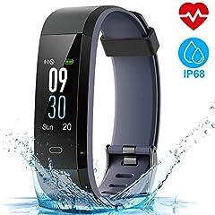 Idea Regalo - HOMSCAM Orologio Fitness Tracker Fitness Braccialetto Smartwatch Cardiofrequenzimetro da Polso Donna Uomo Bambini Smart Watch Contapassi Calorie Impermeabile IP68 per iPhone Huawei Samsung Xiaomi