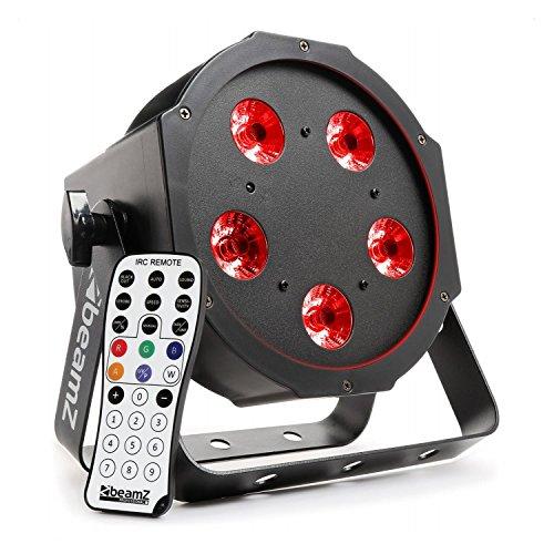 Beamz bfp120FlatPAR PAR Scheinwerfer LED (5x 8W Leistung, 4–1Kombination von Farben, DMX, Fernbedienung) Modus–Schwarz