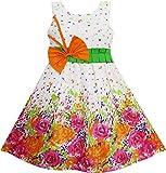 Mädchen Kleid Schmetterling Bogen Binden Blumen - Gr.98 -