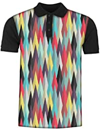 Snoogg Aztec Pattern Digital Ray Men's Polo T-Shirt with Collar Stylish Half Sleeve (Cotton,Polyester)