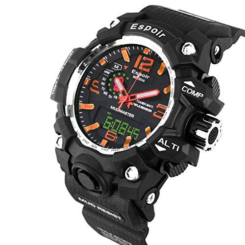 Espoir SKMEI Waterproof Series Digital Analogue Black Dial Digital Boy's and Men's Watch - DigiOrange0507