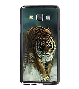 PrintVisa Designer Back Case Cover for Samsung Galaxy A7 (2015) :: Samsung Galaxy A7 Duos (2015) :: Samsung Galaxy A7 A700F A700Fd A700K/A700S/A700L A7000 A7009 A700H A700Yd (Eye Of The Tiger Angry Fantacy Graphic Design)