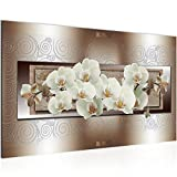 Bild 70 x 40 cm - blumen Bilder- Vlies Leinwand - Deko für Wohnzimmer -Wandbild - XXL Teile - leichtes Aufhängen- 800814c