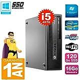 HP PC EliteDesk 800 G1 SFF Core I5-4570 RAM 16GB 120GB SSD DVD-Brenner WiFi W7