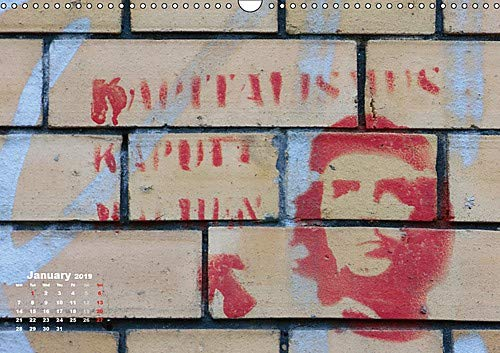 STENCIL ART IN BERLIN 2019 / UK-Version (Wall Calendar 2019 DIN A3  Landscape): Stencil Graffiti at house walls in Berlin (Monthly calendar, 14  pages )