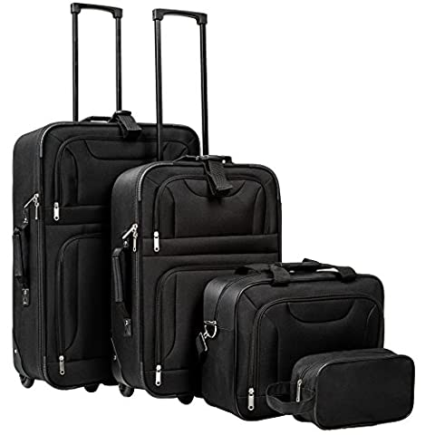 Set Trolley - TecTake Set de 4 valises trolley textile