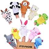 Pixnor 10pcs Jouets éducatifs doigt poupée Marionnettes à doigts Jouets de doigt
