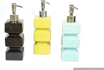 Skywalk High Grade Ceramic Liquid Soap Dispenser, 250ml (Multicolour, SPDKCMSXS) - 1 Pcs