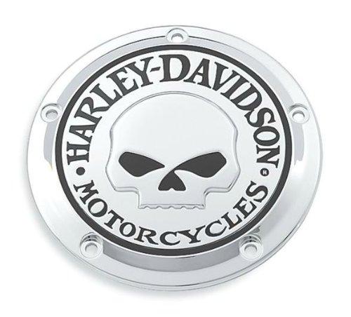Coperchio Accesso Frizione Cover Derby Lato Sinistro Willie G. Skull Twin Cam ed Evolution Harley Davidson