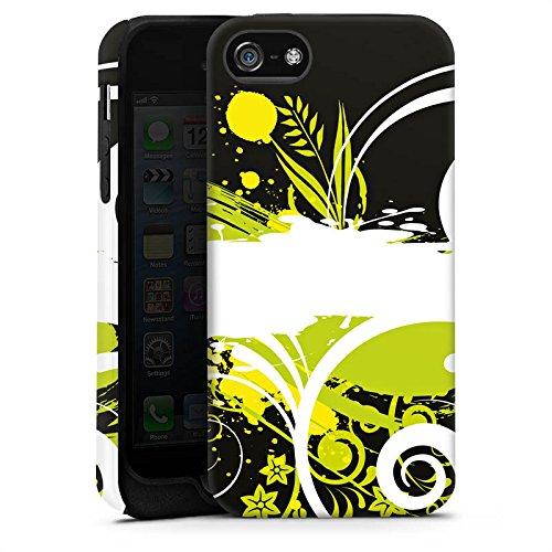 Apple iPhone X Silikon Hülle Case Schutzhülle Blumen Muster Abstrakt Tough Case matt