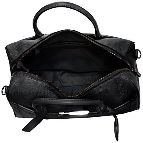 Clarks Treville Dusk 261084460 Damen Henkeltaschen 33x36x16 cm (B x H x T), Beige (Nude Leather) Schwarz (Black Leather)