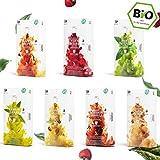 7 x 10 Capsule di tè biologiche compatibili Nespresso - Confezione di tisane alla frutta e alle erbe, 70 capsule, 7 varietà, senza alluminio e senza plastica di My-TeaCup