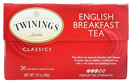 Twinings of London - Tè della prima colazione inglese dei classici - 20Bustine di tè - Twinings Colazione Tè