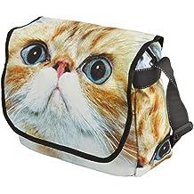 Unisign - Bolsa bandolera para mujer - Diseño gatito - Mediano