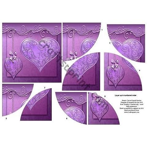 Corazones de curvas themawrap apilador por Mary Jane Harris