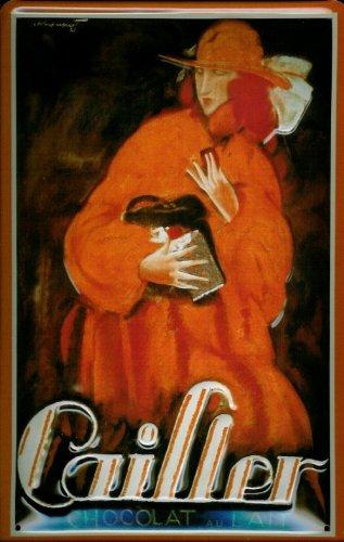 Affiche-mtallique-avec-motif-plaque-de-chocolat-cailler-chocolat-metal