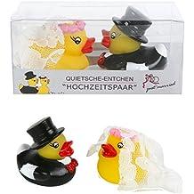 Pareja de patos de goma para bañera, diseño de casados