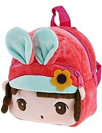 Sac à Dos en Peluche Bébé Cartoon Cartable Backpack Ecole Pour Primaire Maternelle Petit Fille Garçon