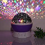 SWADEC Star Night Light, Color Change Romantic 360 Degree LED Rotation Star Sky Projection Night Light Toy Table Lamp For Children