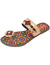 Footrendz Women's Embroided Fabric Flats