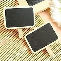 HuaYang Cute Mini Blackboard Chalkboard Office Home Wooden Message Labels Holder Clip 2Pcs