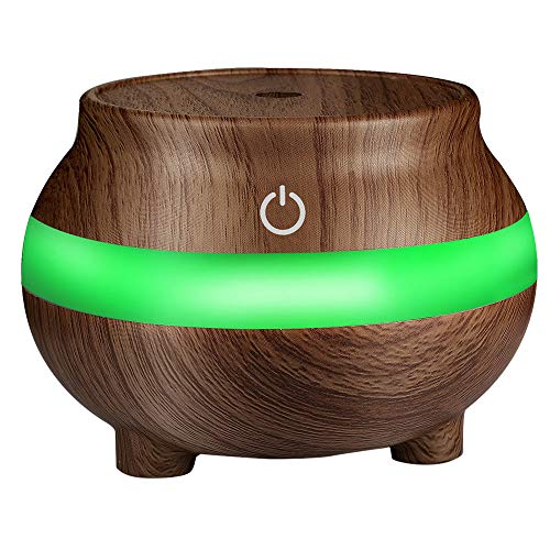 R-Cors Tragbarer Aromatherapie-Getreideöl-Holzbefeuchter 300 ml Aufladen USB-Aufladung Desktop-Luftreiniger USB-Aufladung Geeignet für Schlafzimmer/Spa/Yoga/Massage/Büro -