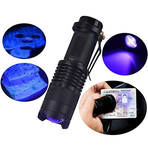Luz Ultravioleta Linterna Recargables Profesionales Tactica Linterna Uv Buceo Led Pequeña Uv Blacklight...